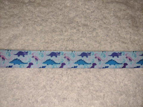 "Dinosaur Themed Hand Crafted Pacifier Dummy Clip - 10""-12"""