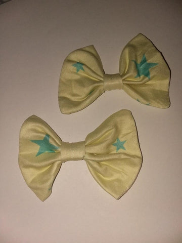 Lil Star MATCHING Boutique Fabric Hair Bow 2pc Set