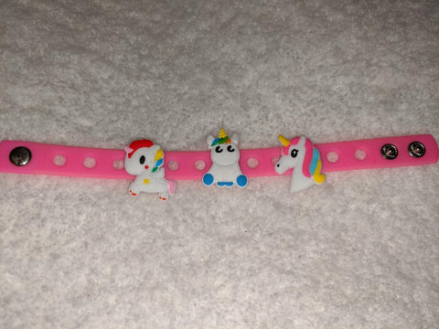 Unicorn New Super Cute Silicone Jibbiz Bracelet