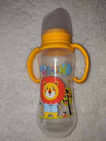 Lion Bottle with removable handles and silicone teat