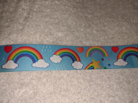 Rainbow Custom Made Ribbon Socks