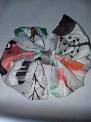 DISCONTINUED FOREST CRITTERS MATCHING Boutique Fabric Hair Bow Clearance