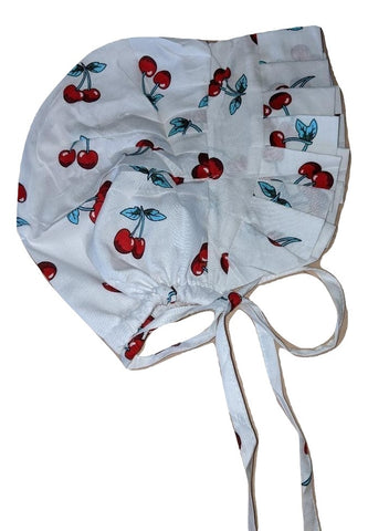 Adult Baby Bonnets Cherry