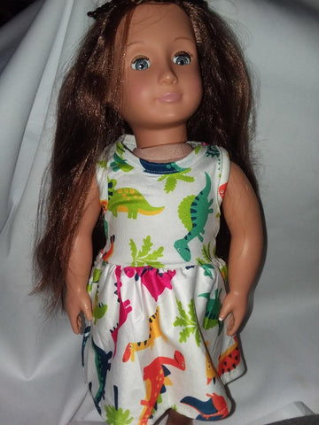 DINOSAUR Doll Matching Outfit Dress