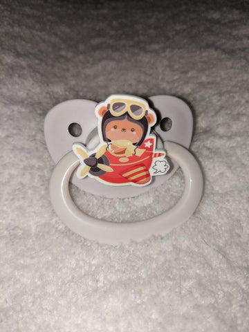 Bear in Plane Pacifier