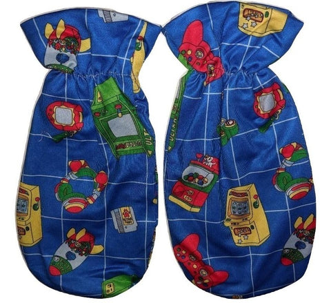 ULTRA PUPPY ARCADE GAMER MATCHING FABRIC Mittens
