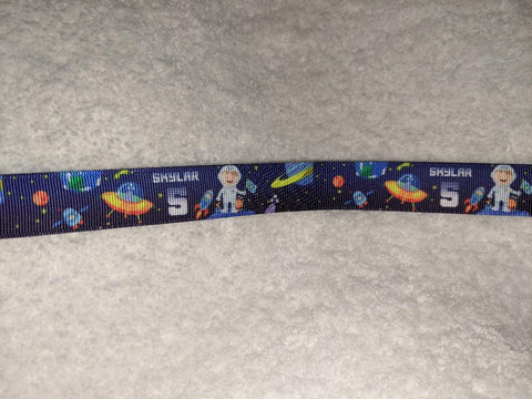 "Alien Space Ship Hand Crafted Pacifier Dummy Clip - 10""-12"""