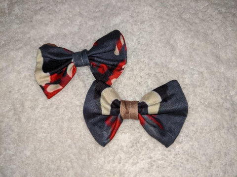 Merry Krampus HAIR BOWS 2PC SET