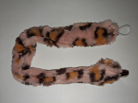 Monster Fur DELUXE CUSTOM PACIFIERS CLIPS Pink Cheetah Print