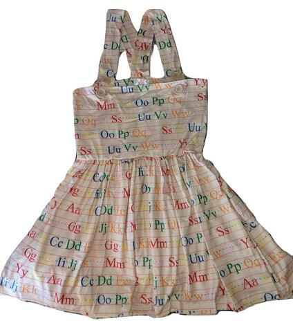 DISCONTINUED Suspender ABC Jumper Skirt Dress