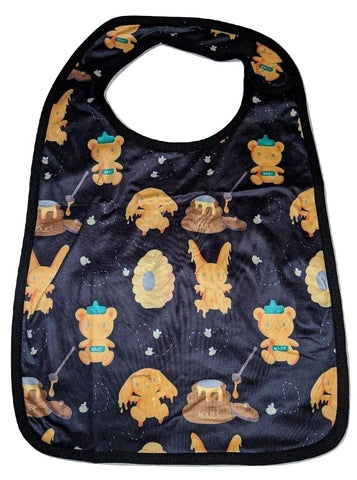 Hunny Bunny Black Matching Bib Print Designed by cyan.red