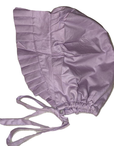Adult Baby Bonnets Purple Lil Mouse