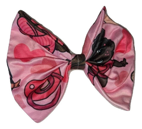 Lil Princess MATCHING Boutique Fabric large Hair Bow Designed by @littlepastelalien