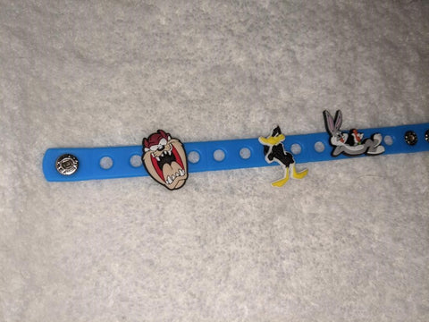 80'S CARTOON L T'S New Super Cute Silicone Jibbiz Bracelet