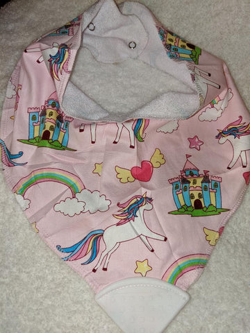 Bandana Teething Drool Bib Unicorns