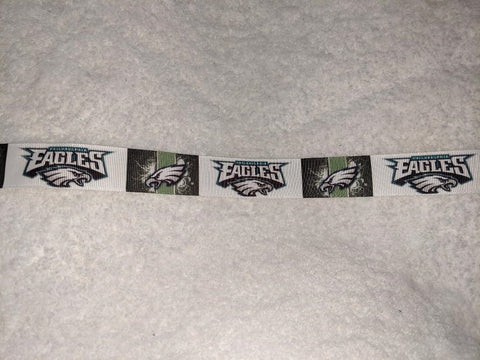 "Football Eagles Hand Crafted Pacifier Dummy Clip - 10""-12"""