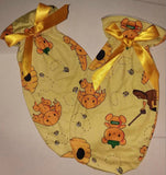 Hunny Bunny Matching 2pc Bib Mittens Set Designed by cyan.red