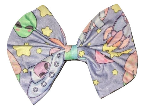 Pastel Aliens Matching Hair Bows Designed by @littlepastelalien