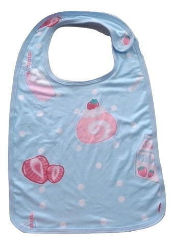 Strawberry Sweeties Pink/Blue DOUBLE SIDED REVERSIBLE MATCHING BIB Clearance