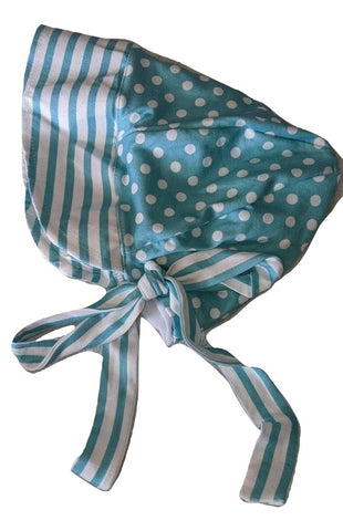 Stripes & Dots Matching Adult Baby Bonnets Hat