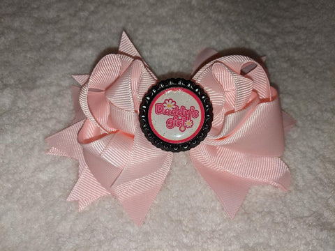 Daddy's Girl Bottle Cap Boutique Hair Bow