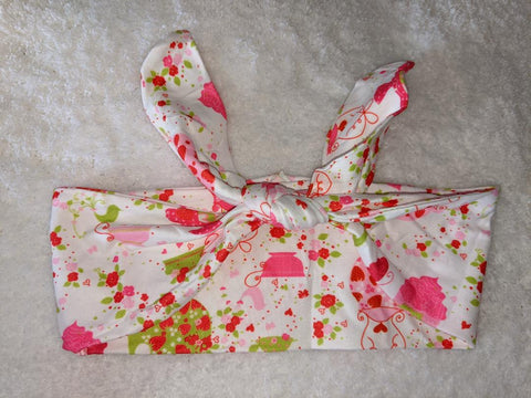 Tea Time MATCHING Boutique Fabric Hairband Headband