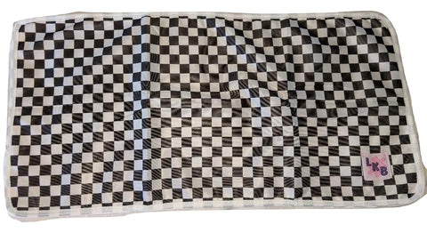 BLACK & WHITE CHECKERS Cloth Pocket Diaper Insert Add-On