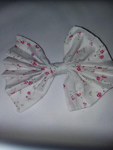 DISCONTINUED BABY FLORAL MATCHING Boutique Fabric Hair Bow