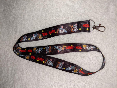 80'S CARTOON Cat & Mouse BADGE HOLDERS - LANYARDS