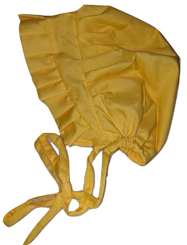 Adult Baby Bonnets BRIGHT YELLOW