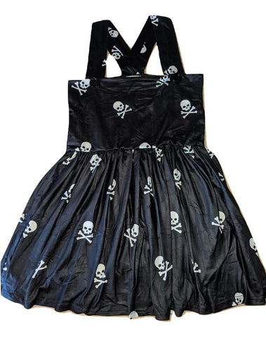 Suspender Skull Jumper Skirt Dress