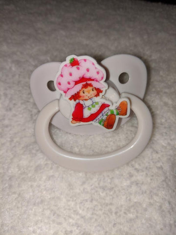 80'S CARTOON STRAWBERRY GIRL Pacifier