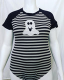 DISCONTINUED Short Sleeve Lil Boo Cotton Onesie Clearance xxs & xs only