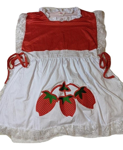 Strawberry Apron Style Jumper Matching Dress