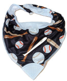 Bandana Teething Drool Bib BaseBall