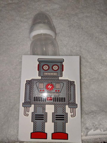 Robots 9oz Baby Bottle with ADULT Teat