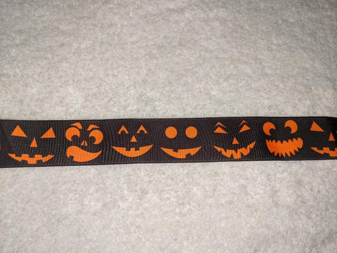 Halloween Pumpkin Custom Made Ribbon Socks