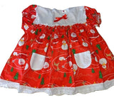 Holiday Christmas Embroidered Baby Doll Dress