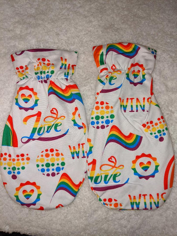 LOVE WINS Matching Adult Mittens CLEARANCE