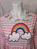 Over The Rainbow 2pc Long Sleeve Dress & Matching Shorts Outfits