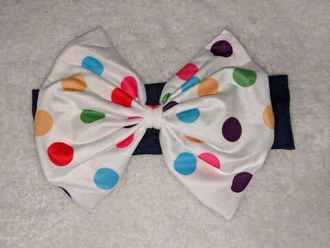 Polka-dot Unicorn MATCHING Boutique Fabric Hairband Headband