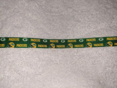 "Football Packers Hand Crafted Pacifier Dummy Clip - 10""-12"""