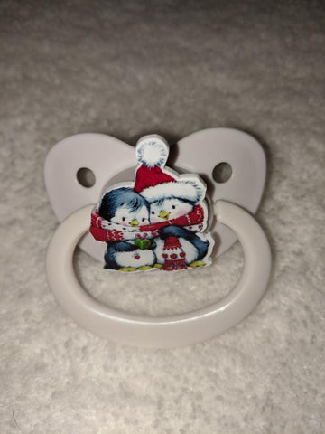 Penguins Holiday Pacifier