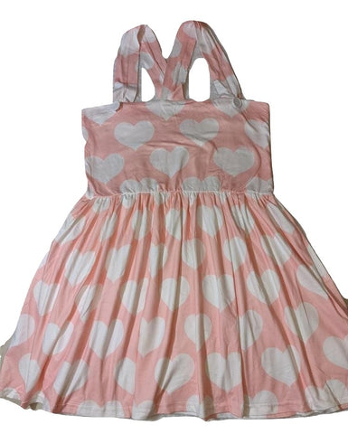 Suspender Pink Hearts Jumper Skirt Dress
