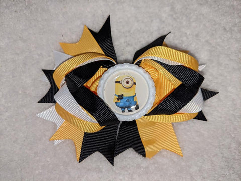 Yellow Guy Movie Hairbow Boutique Hair Bow