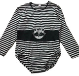 Sneaky Raccoon Long Sleeve Onesie