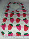 PREPPY BABY STRAWBERRY PATCH Matching Bib