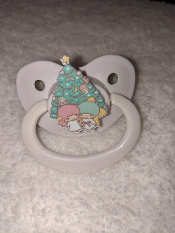Twin Star Baby Holiday Christmas Pacifier