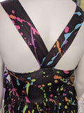 DISCONTINUED Suspender Neon Splatter Paint Jumper Skirt Dress Clearance xxs only