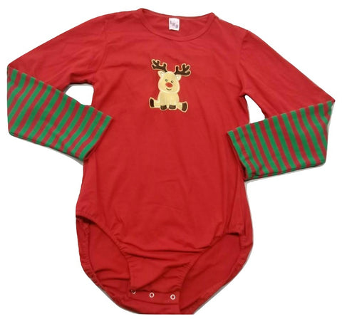 Christmas Reindeer Baby Long Sleeve Onesie